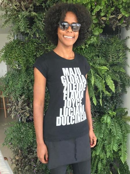 Maju faz homenagem a colegas negras em camiseta:
