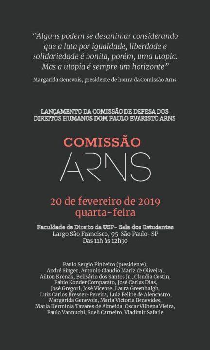 Criada para impedir retrocessos, Comissão Arns será lançada dia 20