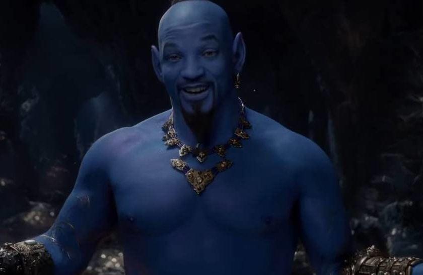 Primeiro trailer de Aladdin mostra Will Smith azul no papel do Gênio
