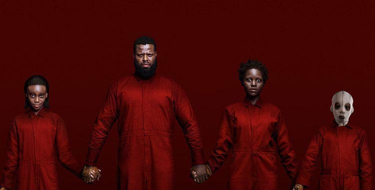 Familia negra do filme nós, um filme de terror