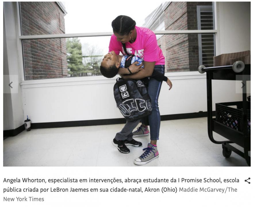 Escola bancada por LeBron James vira modelo nos Estados Unidos