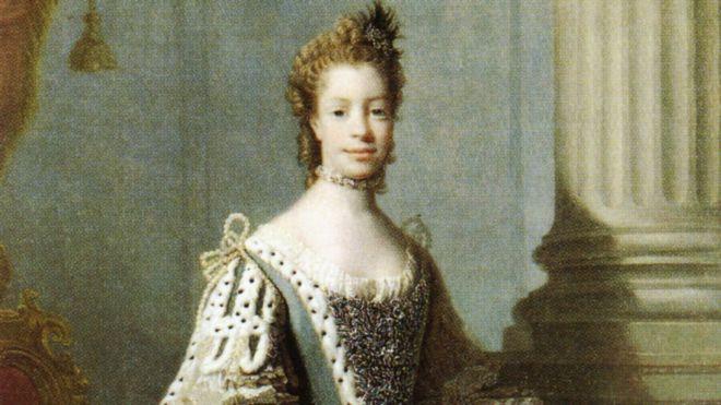 Sophie Charlotte de Mecklenburg-Strelitz, mulher do rei George 3º (1738-1820), era descendente direta de uma africana