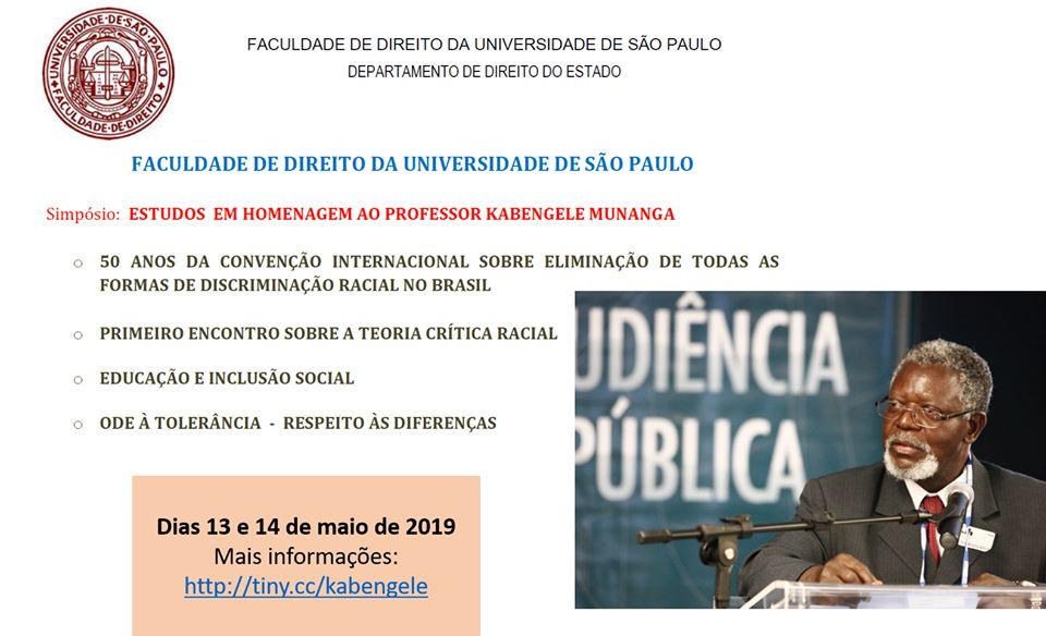 Simpósio:Estudos em homenagem ao professor Kabengele Munanga