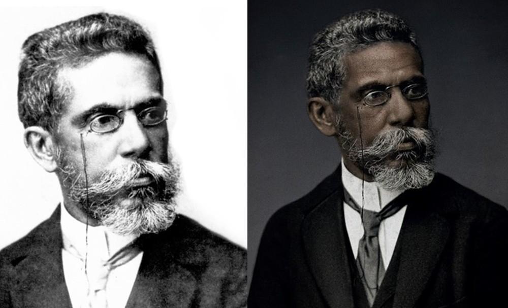 Campanha recria foto clássica de Machado de Assis e mostra escritor negro: 'Racismo escondeu quem ele era'