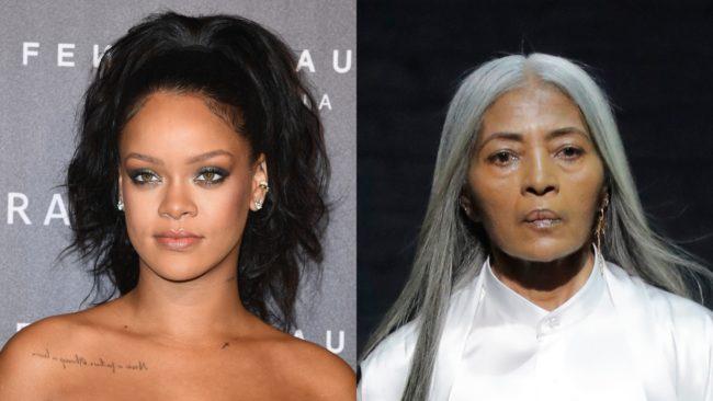 """Rihanna escala modelo de 67 anos para campanha de sua grife """"FENTY"""""""
