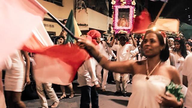 Na comunidade La Vega, periferia de Caracas, a festa de São João Batista vara a madrugada ao som de tambores tradicionais / Foto: Michele de Mello
