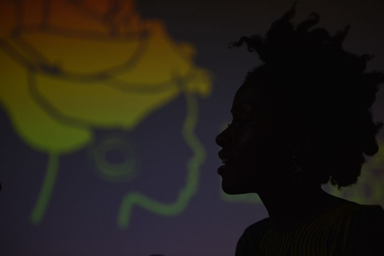 Reunião da Marcha de Mulheres Negras, no Festival Latinidades (Marcello Casal Jr/Agência Brasil)