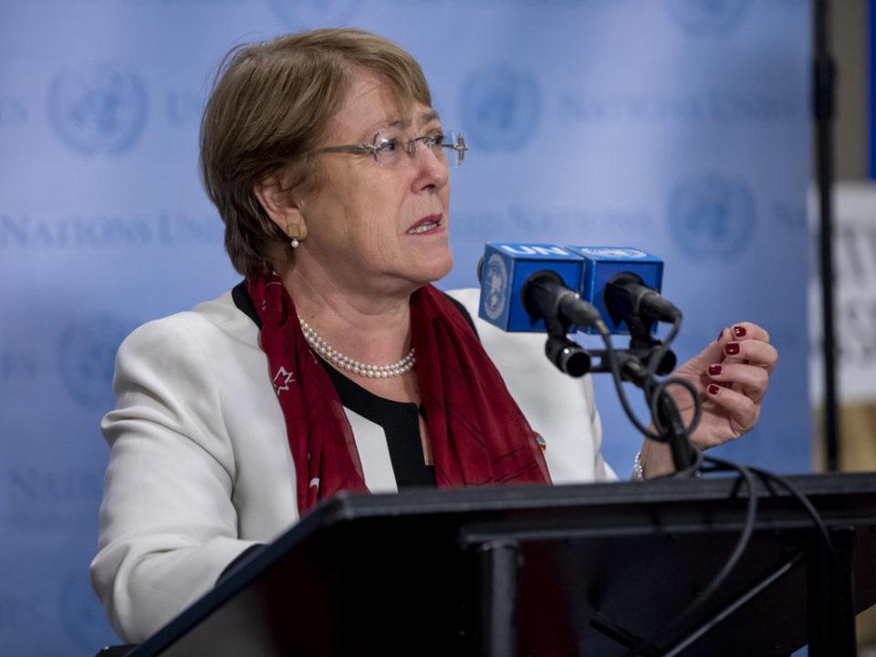 Alta-comissária da ONU para os Direitos Humanos, Michelle Bachelet. Foto: ONU/Jean-Marc Ferre