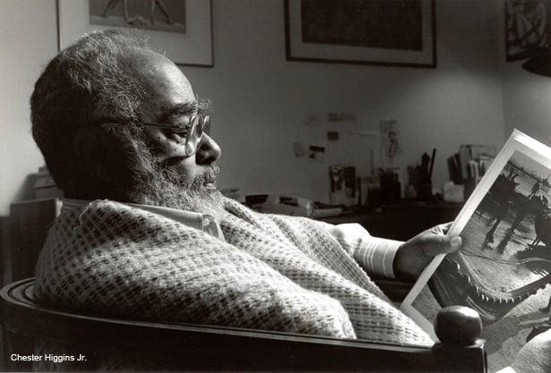ACERVO ABDIAS NASCIMENTO/ IPEAFRO Abdias Nascimento em Nova York, 1997.