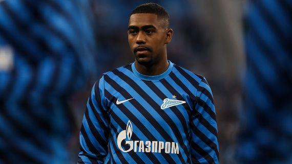 Malcom em preparação para jogo do Zenit no Campeonato Russo Getty Images