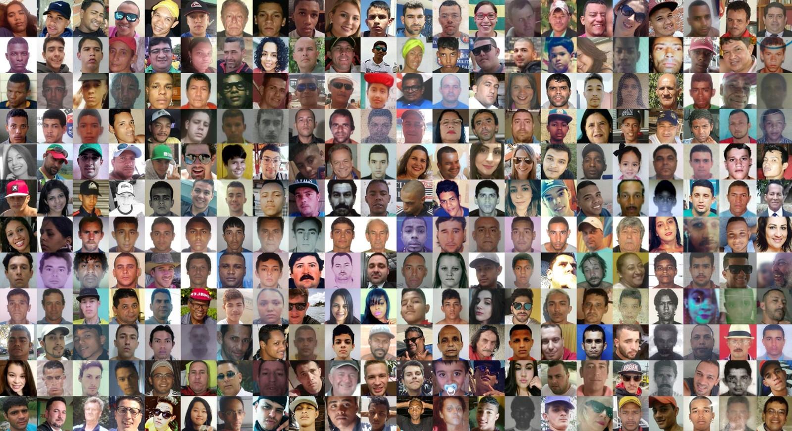 As vítimas da violência em apenas uma semana no Brasil — Foto: Editoria de Arte / G1