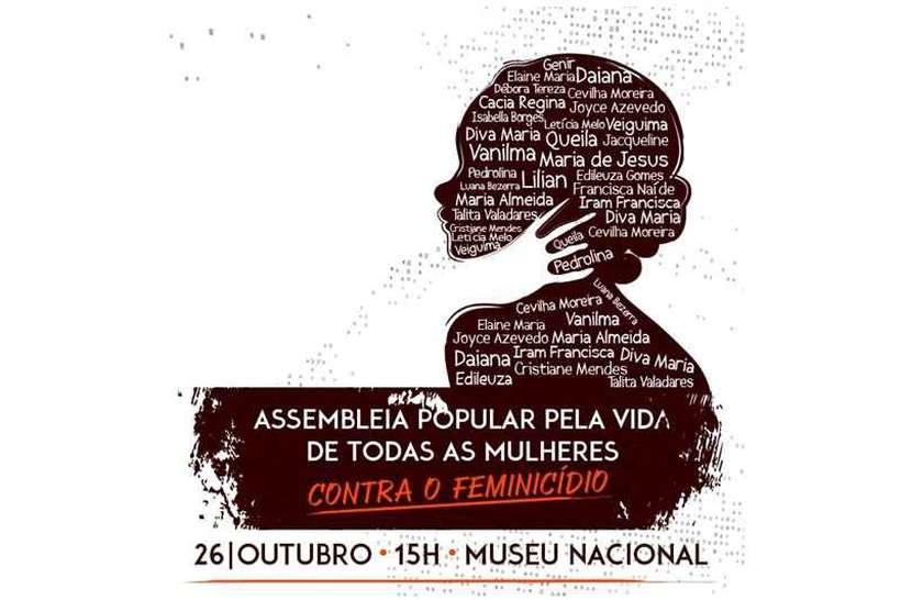 Mulheres organizam ato para discutir meios de combater o feminicídio no DF