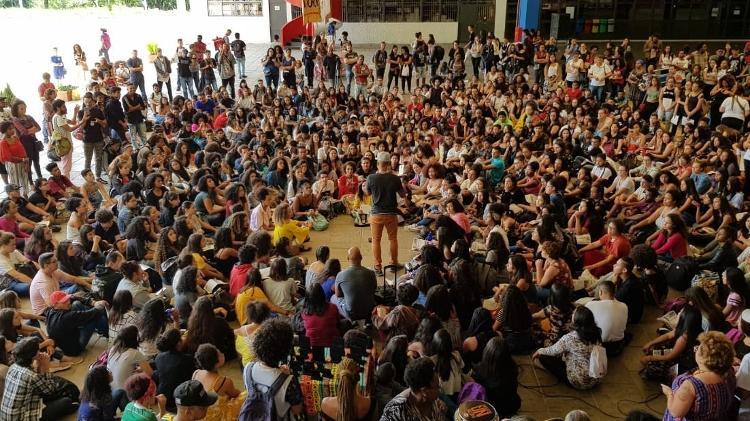 Foto com os estudantes da Uniafro