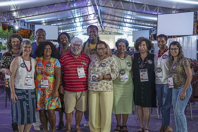 GT Racismo e Saúde da Abrasco reunido durante o 8º Congresso Brasileiro de Ciências Sociais e Humanas em Saúde, em João Pessoa. (Foto: Imagem retirada do site Abrasco)