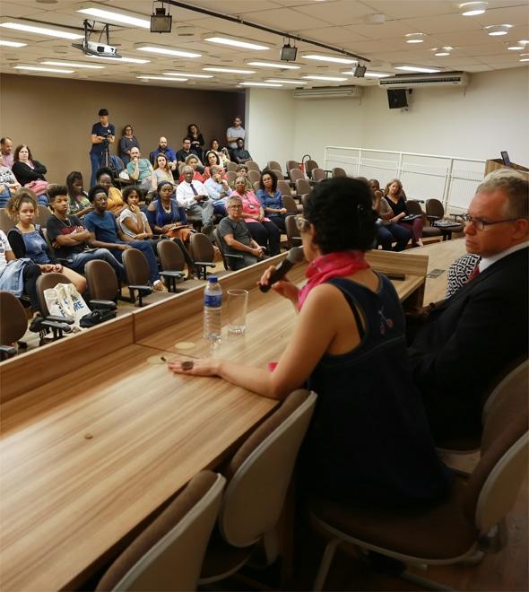 Foto do auditório durante o lançamento da UnicampAfro