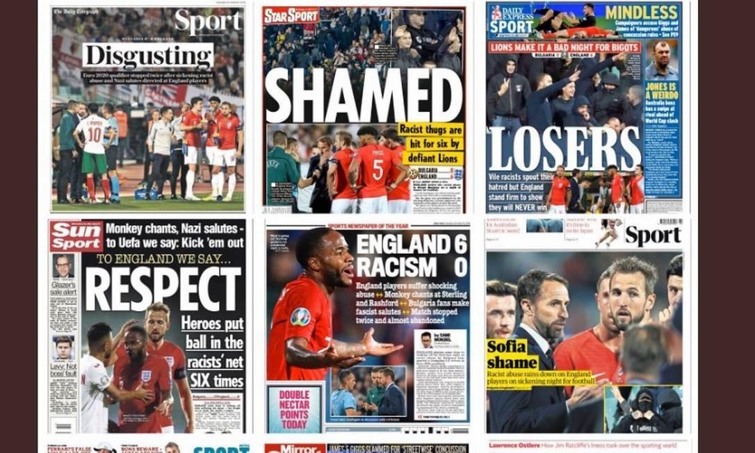 Capas de jornais britânicos Foto: Reprodução