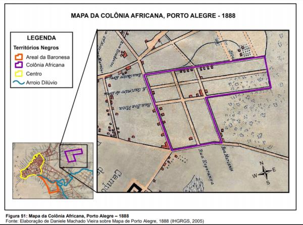 Mapa da Colonia Africana, Porto Alegre- 1888