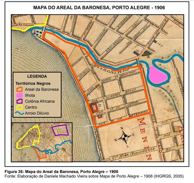 Mapa do Real da Baronesa, Porto Alegre- 1906