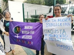 Mulheres são barradas na inauguração da Casa da Mulher Brasileira em São Paulo