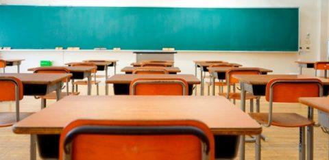 Uma sala de aula vazia