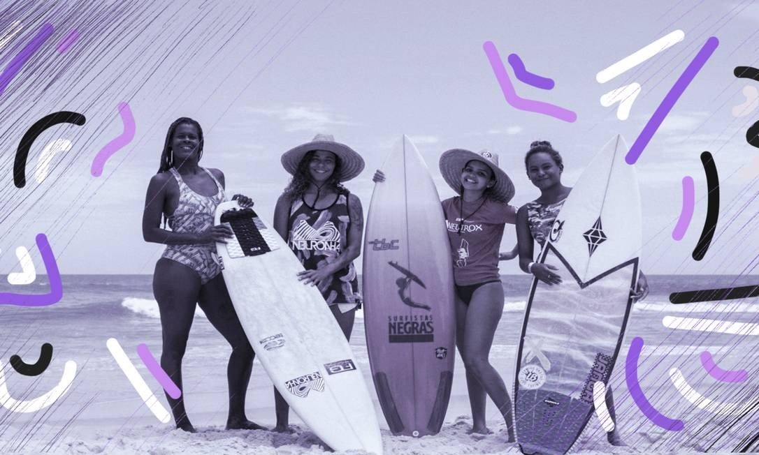 O universo do surfe é um reflexo da nossa sociedade racista e não existe equidade quando se trata de surfistas negras e nordestina Foto: Sam Manhães