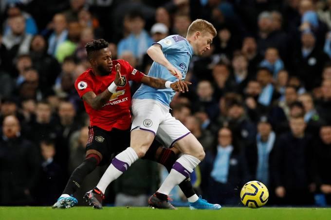 O meia brasileiro Fred, do Manchester United, que foi alvo de manifestações racistas durante o jogo contra o Manchester City, neste sábado, 7 (Phil Noble/Reuters)