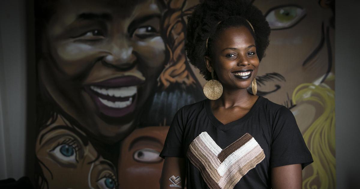Luana Génot virou ativista para lutar pela autoestima negra Foto: Alexandre Cassiano / Agência O Globo