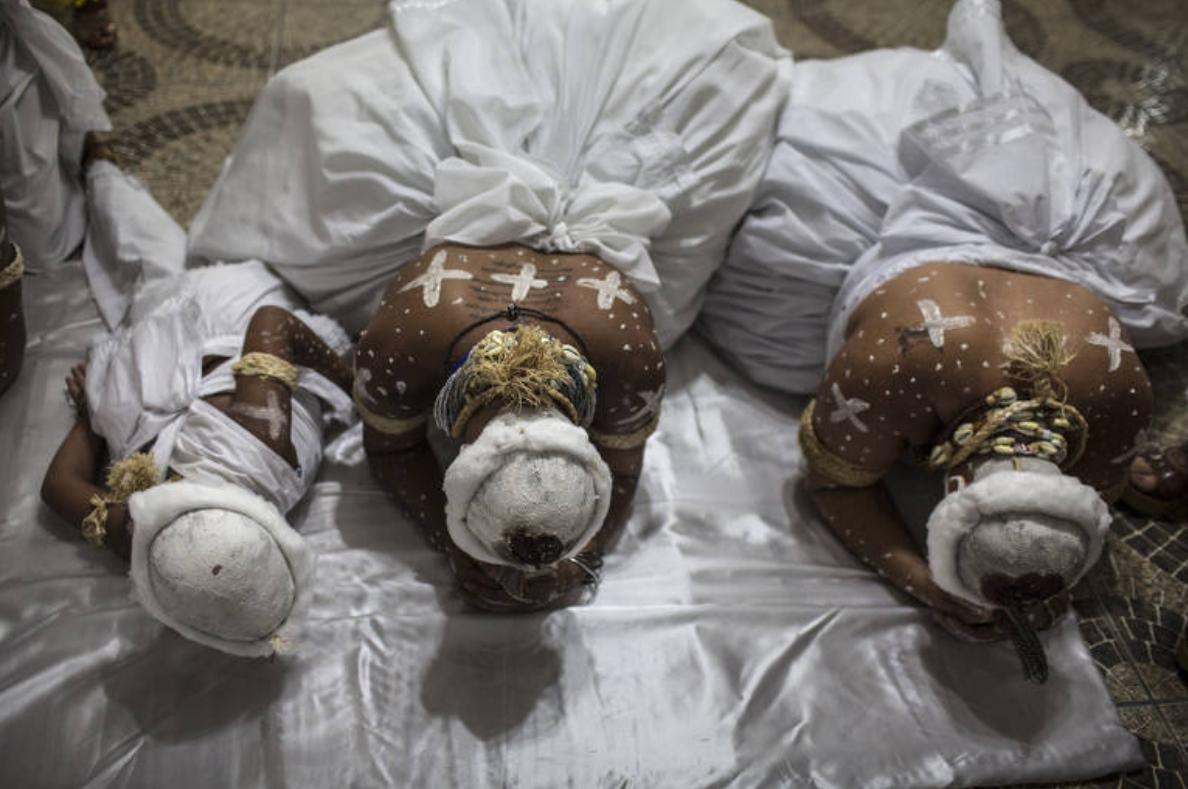 Ritual de iniciação no candomblé no Rio de Janeiro. - Foto: Lianne Milton/Especial para o The Washington Post