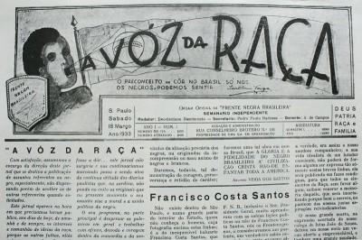 FNB: O percurso da voz da resistência negra brasileira (1933 A 1938)