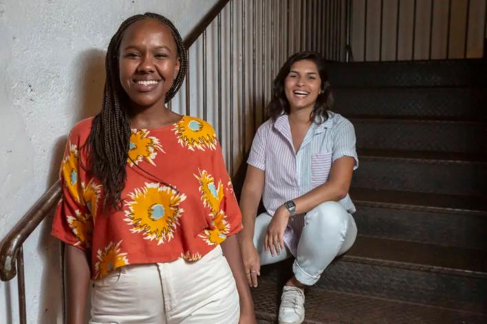 Clariza Rosa e Helena Gusmão, ao lado de mais dois sócios, fundaram a Silva - agência de casting, produtora de moda e comunicação voltada para narrativas negras e periféricas Foto: Taba Benedicto/Estadão