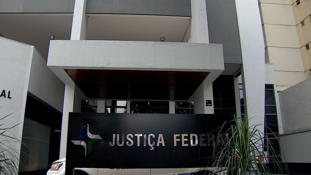 Prédio da Justiça Federal em Goiânia, Goiás — Foto: Reprodução/TV Anhanguera