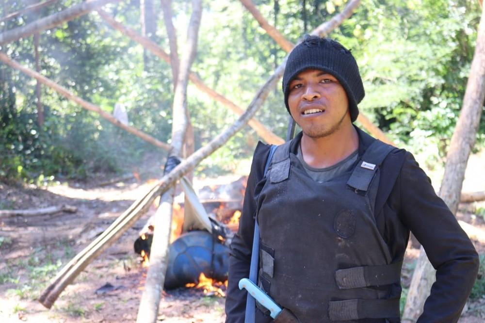 """Paulo Paulino """"Lobo Mau"""" Guajajara morreu após uma troca de tiros próximo a Terra Indígena Arariboia, no Maranhão — Foto: Sarah Shenker/Survival International"""