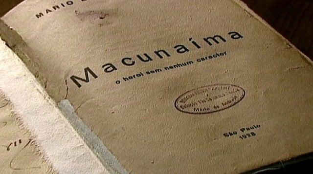 'Macunaíma, obra de Mário de Andrade, era uma das 43 censuradas (Crédito: Reprodução/EPTV)