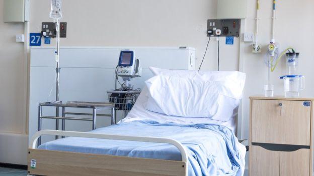 Foto de um quarto de hospital