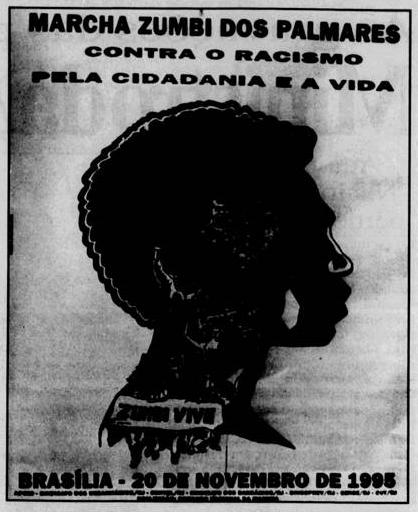 Propaganda da marcha zumbi dos palmares
