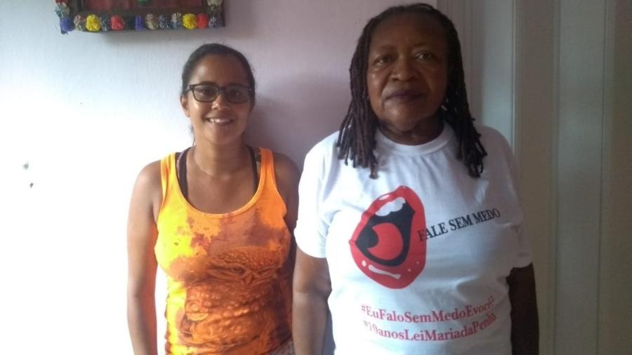 A doméstica Rosângela Conceição dos Santos e a secretária geral da Fenatrad, Cruza Maria Oliveira