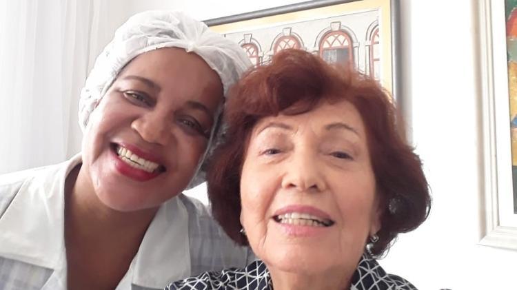 A presidente do Movimento das Donas de Casa e Consumidores da Bahia, Selma Magnavita, e sua empregada Marilene Melo Ramos