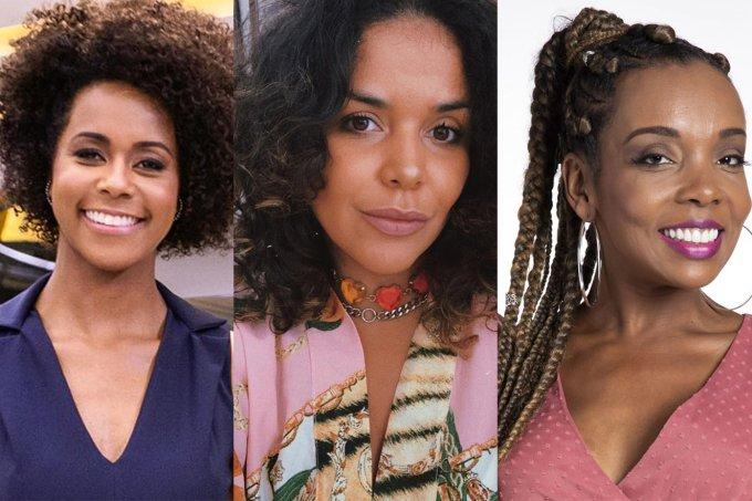 Na imagem aparecem: Maria Júlia Coutinho, DJ Ju de Paulla e Thelma Assis. Dj estava em live, quando Rodrigo Branco cometeu racismo em comentário