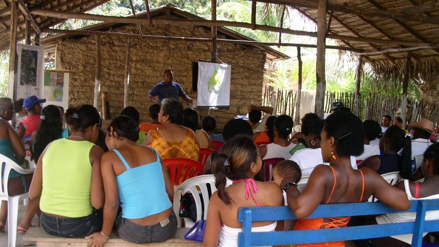 Membros das comunidades quilombolas durante reunião em Alcântara (MA) Imagem: Arquivo Pessoal