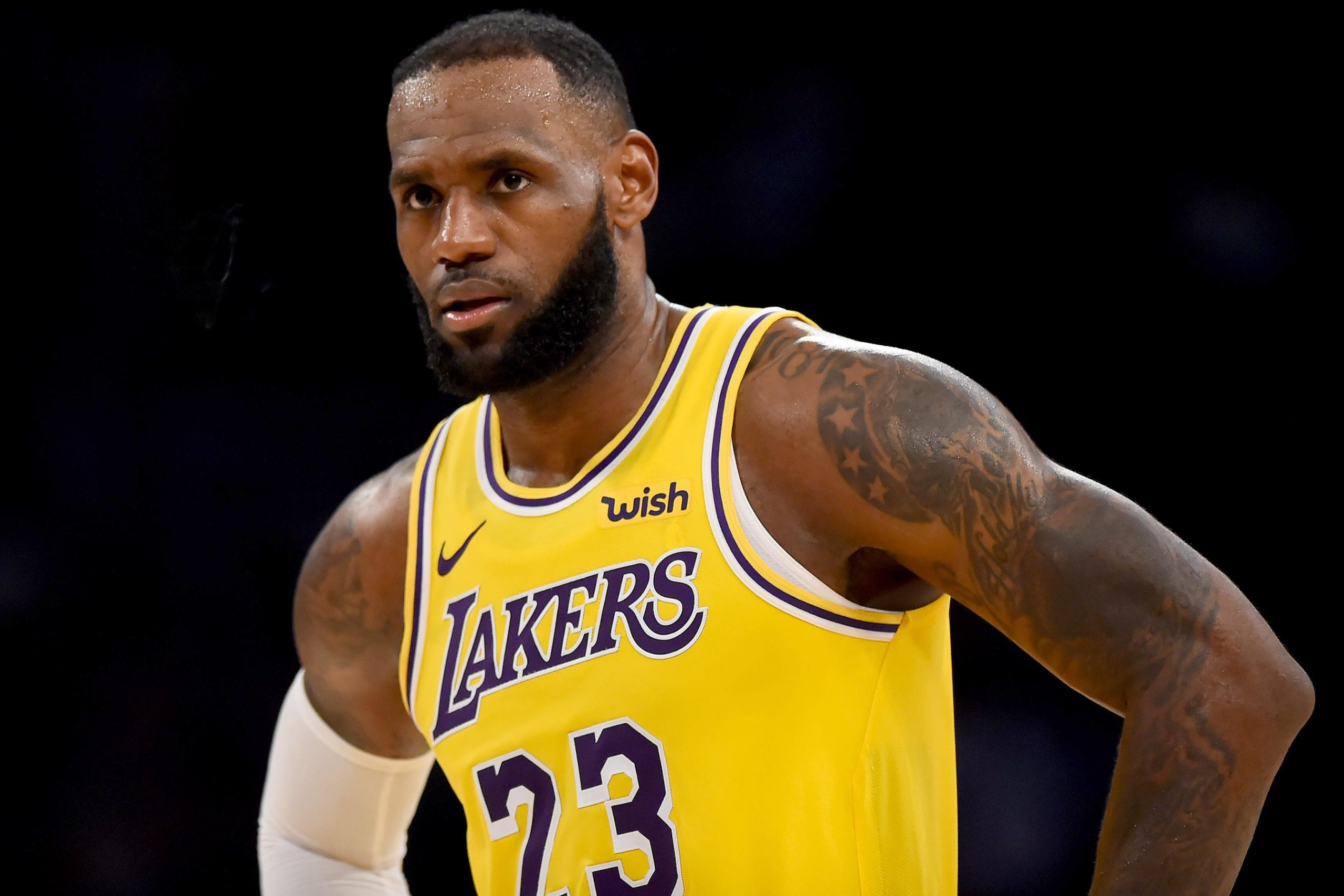 LOS ANGELES, CA - OCTOBER 22: The Lakers' LeBron James #23 during their game against the Spurs at the Staples Center on Mon. Oct. 22, 2018. The Spurs defeated the Lakers 143-142 in overtime. (Photo by Hans Gutknecht/Digital First Media/Los Angeles Daily News via Getty Images)