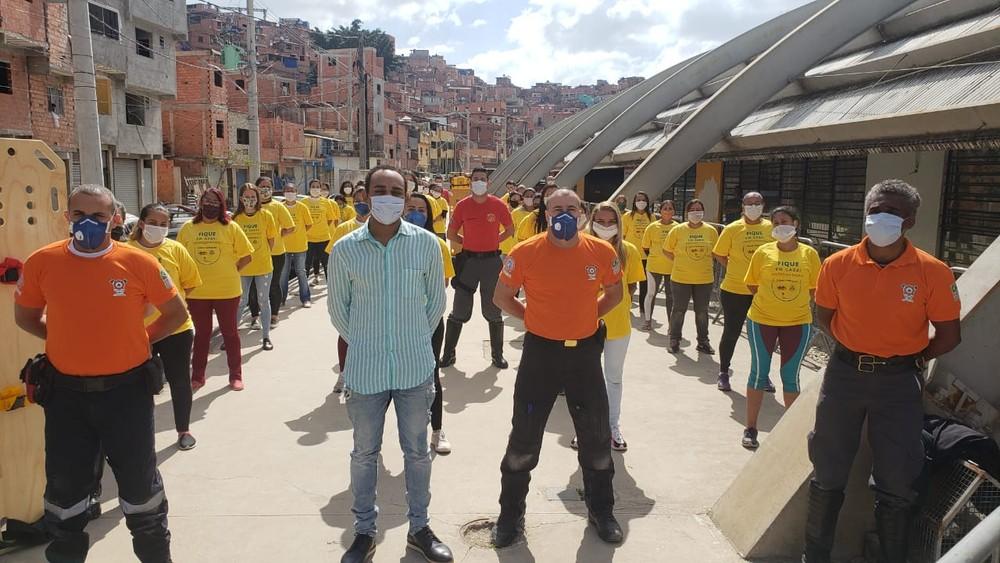 Paraisópolis capacita socorristas para atuar em brigadas de emergência na comunidade — (Foto: Josi Martins/Arquivo pessoal)