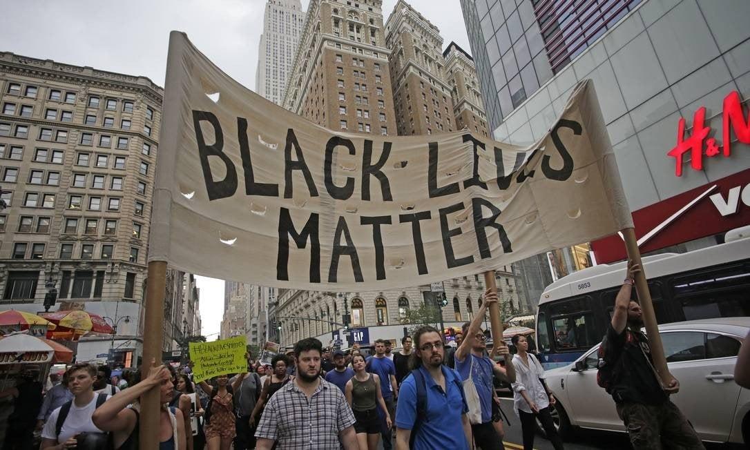Protesto em Nova York após a morte de George Floyd: 'Vidas negras importam' Foto: Pacific Press / Getty Images