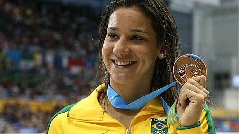 Joanna Maranhão é pernambucana e ex-nadadora olímpica - CBDA