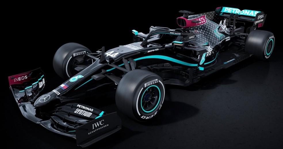 Nova Mercedes passa a ser pintada de preto na Fórmula 1 — Foto: Divulgação