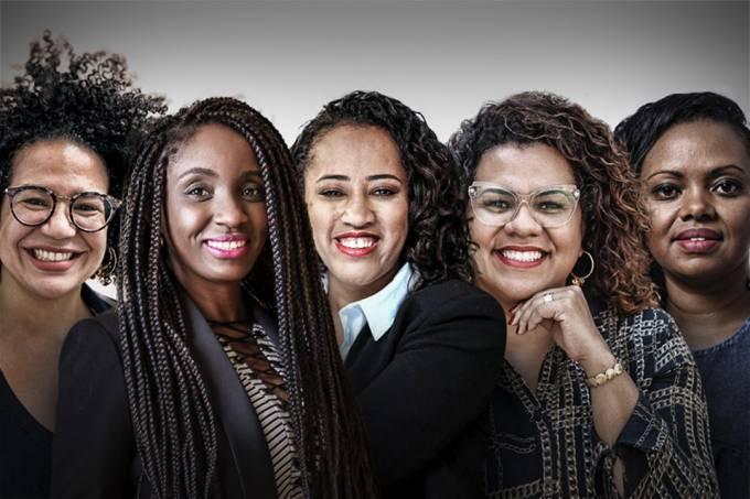 Selma Moreira, Nina Silva, Liliane Rocha, Patricia Santos e Adriana Barbosa (da esq. para dir.) (Foto: Imagem retirada do site Exame)
