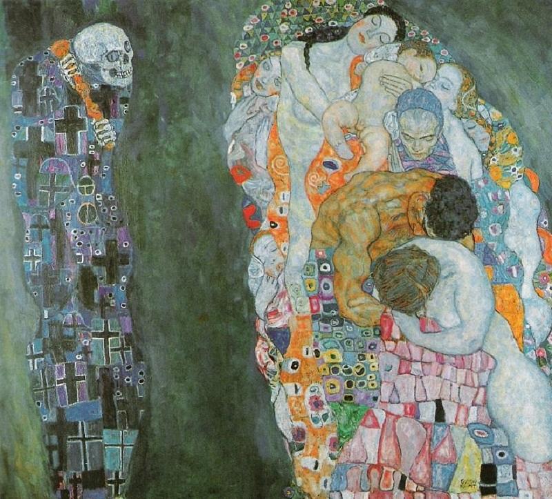 """""""A Vida e a Morte"""" (1916), Gustav Klimt - Reprodução"""