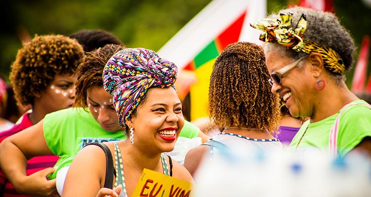Primeira Marcha das Mulheres Negras em 2015, em Brasília (Foto: Thaís Mallon/Divulgação)