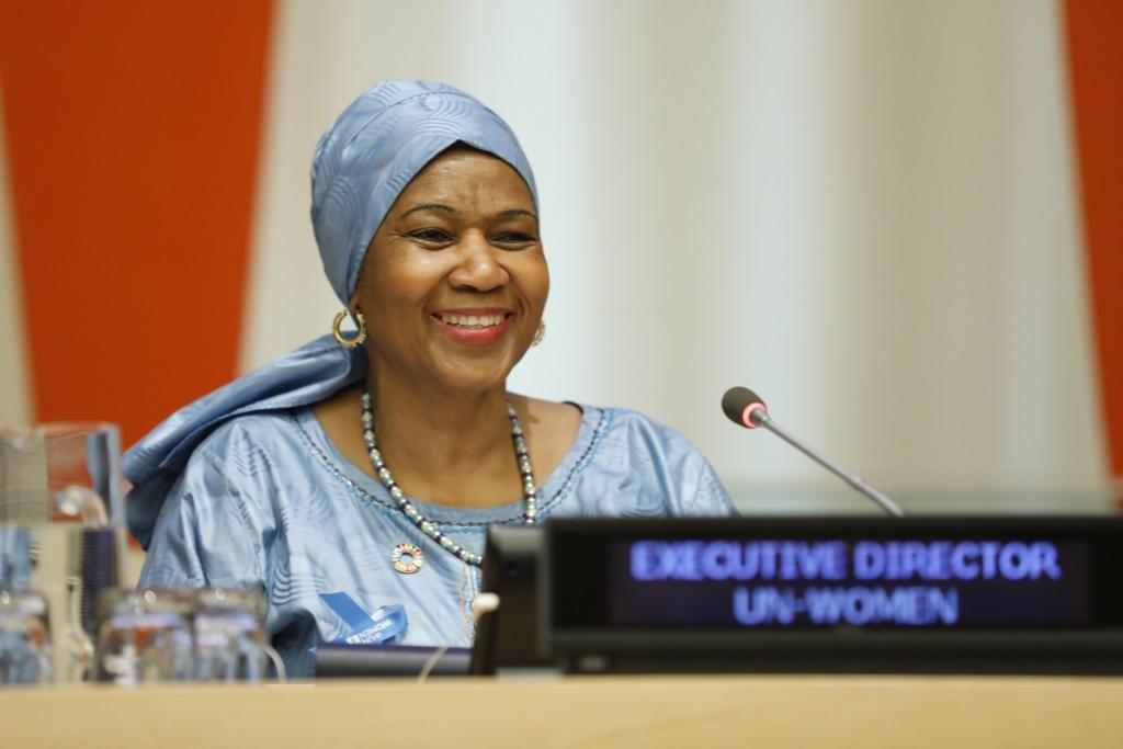 Phumzile Mlambo-Ngcuka, chefe da ONU Mulheres, em evento para celebrar o Dia Internacional das Mulheres em Nova Iorque. Foto: ONU Mulheres