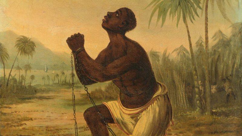 Pintura de meados de 1800 intitulada 'Am Not I A Man and a Brother' (Foto: Wikimedia Commons)