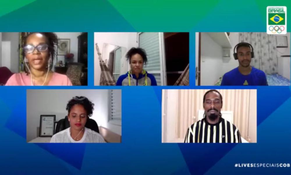 A live do COB foi mediada pela jornalista e escritora Eliana Alves Cruz (YouTube/Time Brasil)
